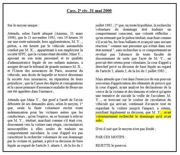 les causes d exon ration dans la loi du 5 juillet 1985 relative la responsabilit du fait des. Black Bedroom Furniture Sets. Home Design Ideas