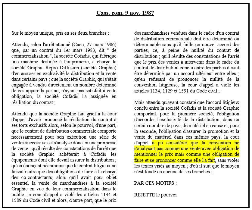 dissertation évolution de la condition potestative