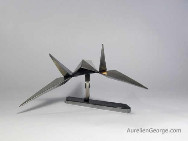 Sculpture metal Arwing