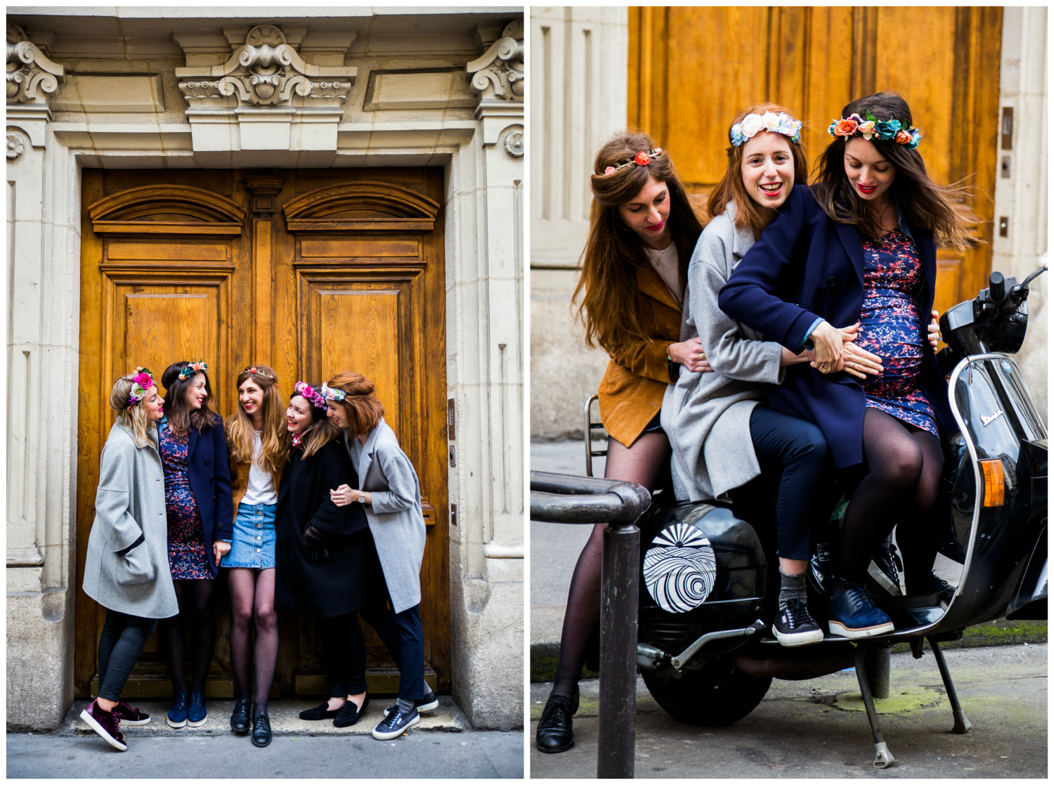 Shooting photo lifestyle love session grossesse copines amies extérieur Paris Gare de l'Est