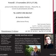 Il Canto Dei Secoli – Book Launch