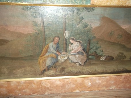 St. Joseph and Our Lady on a picnic