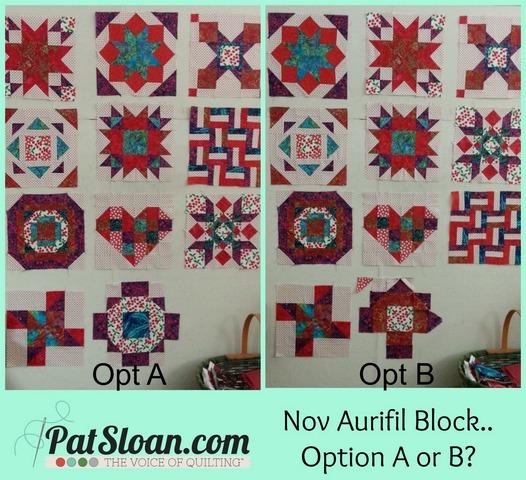 Pat sloan Nov block option a or b
