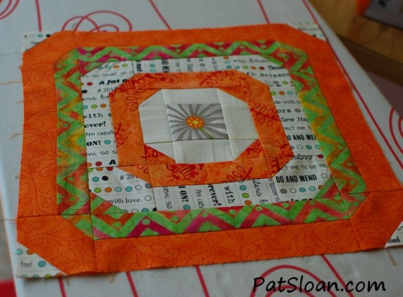 Pat Sloan Oct Aurifil block final block