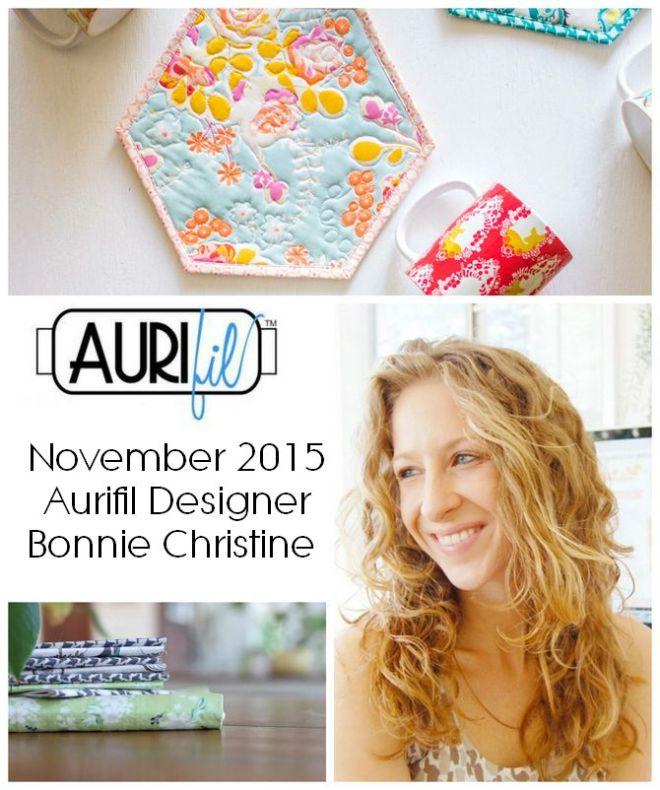 Aurifil 2015 bonnie christine Nov designers logo