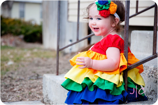 rainbowruffledress