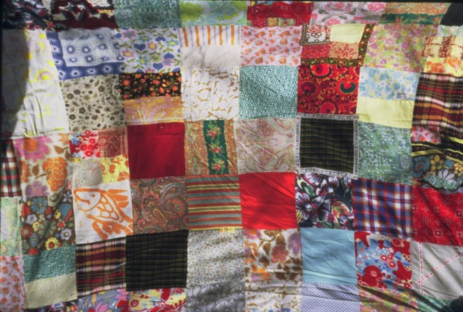 Paula's prized first quilt