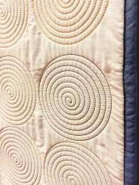 Closeup of the Spirals Quilt