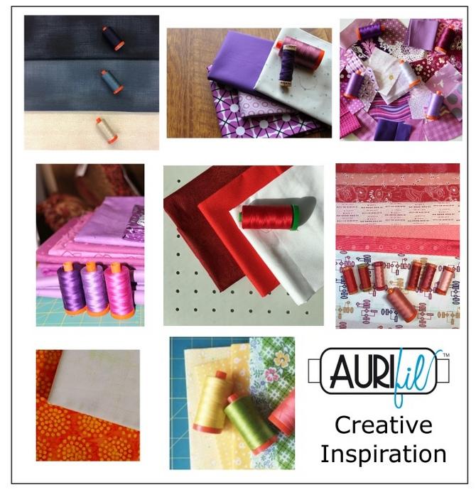 Aurifil 2017 Designers of the month fabrics august.JPG