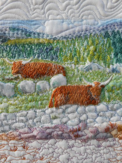 Postcards from Scottish Highlands -- Highland Cow Detail (Sheena Norquay)