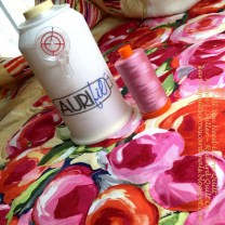 Monofilament being used in a project by Aurifil Designer Karen Miller -- Find her Collection The Subtle Sampler