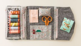 Fold-Up Sewing Folio from Stitched Sewing Organizers