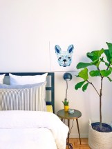 Fleur the Frenchie mini quilt was designed by Madi Hastings from Laser Cut Quilts.