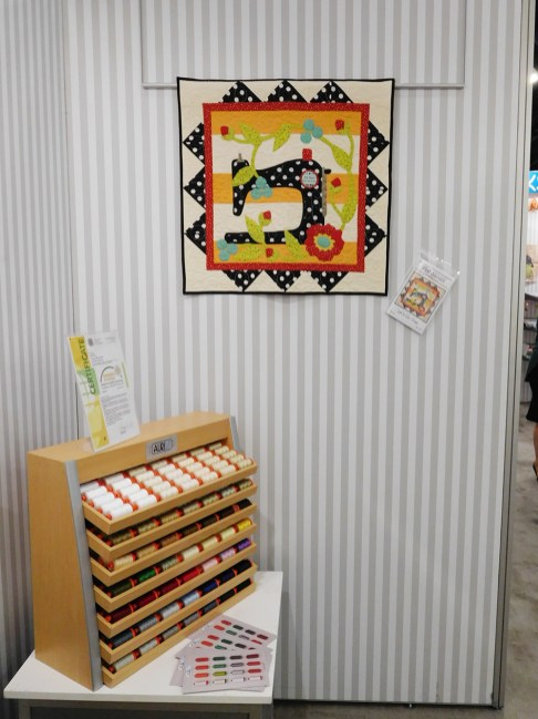 Thread Display + Pat Sloan's Let's Go Sew Mini, pattern available here