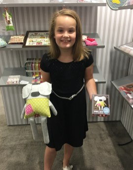 Remy McDonough with her new collection Puppy Love, one of our 4 new collections in the brand new AuriKids series