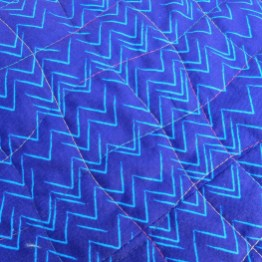 Thread detail on blue