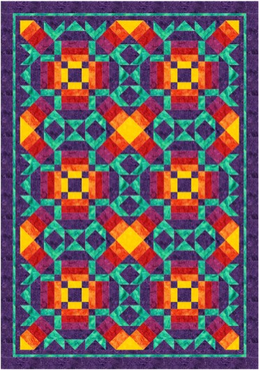 Solar Flare by Desert Bloom Quilting