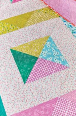 Half Square Triangles Quilt Detail - image by F+W Media