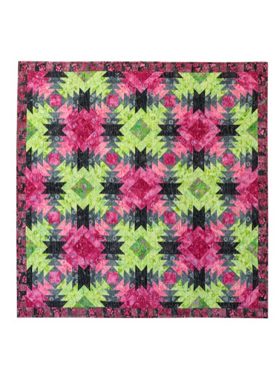 Pineapple Express (Green & Pink) by Canton Village Quilt Works