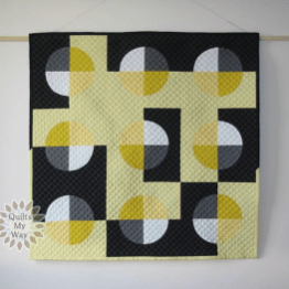 Lemon Juice Quilt, Part of the Sew All Around QAL, by Gosia Pawlowska