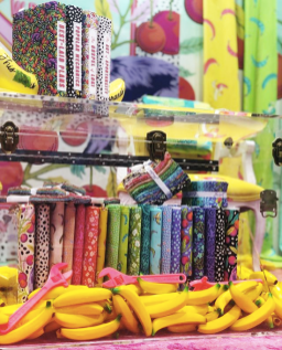 Tula Pink's Booth at 2019 Spring Quilt Market