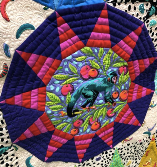 Detail of Tula Sunrise Quilt -- @tulapink