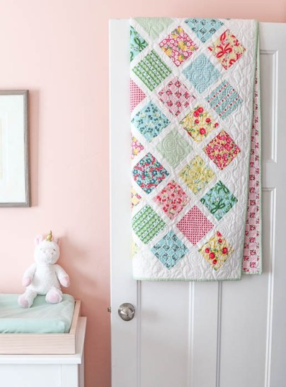 Lattice Baby Quilt by Amy Smart