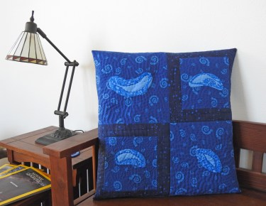 Reverse Applique and Hand Quilted Pillow (1)