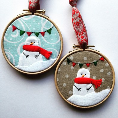Mini Snowman Hoops from Virtual Retreat #5
