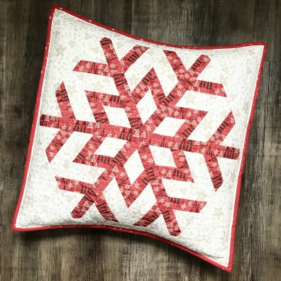 Snowflake Cushion from Virtual Retreat #5