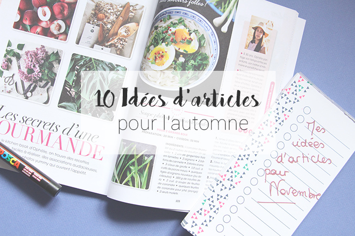 idées d'articles à faire en automne - Au'riginalité - as you like magazine - blog lifestyle et humeurs et post it image à la une