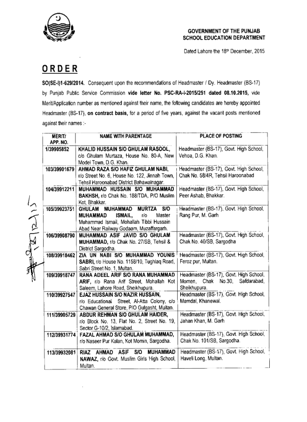 School Education Department Punjab has issued appointment letters to ...