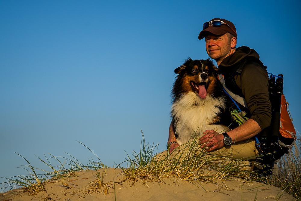 man dog friendship