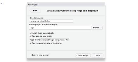 Selecting Hugo Blogdown theme