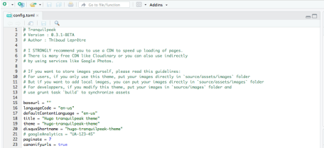 A config.toml file appears