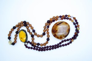 Bumblebee Necklace With Carnelian, Pink Agate, Red Aventurine & Citrine