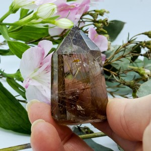 Stunning Rutilated Quartz Point, Cleansing and Energising