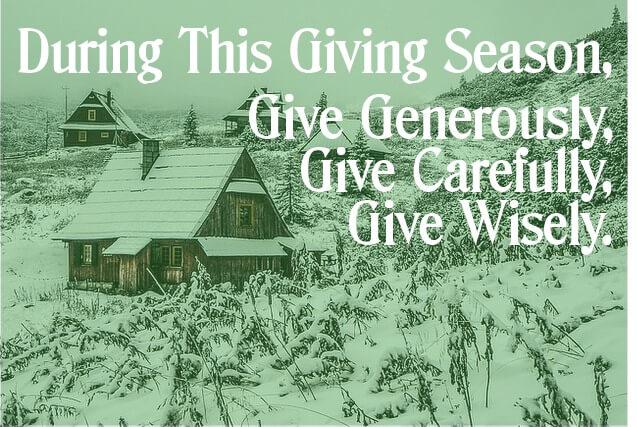 Give Carefully