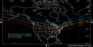 North America Kp map