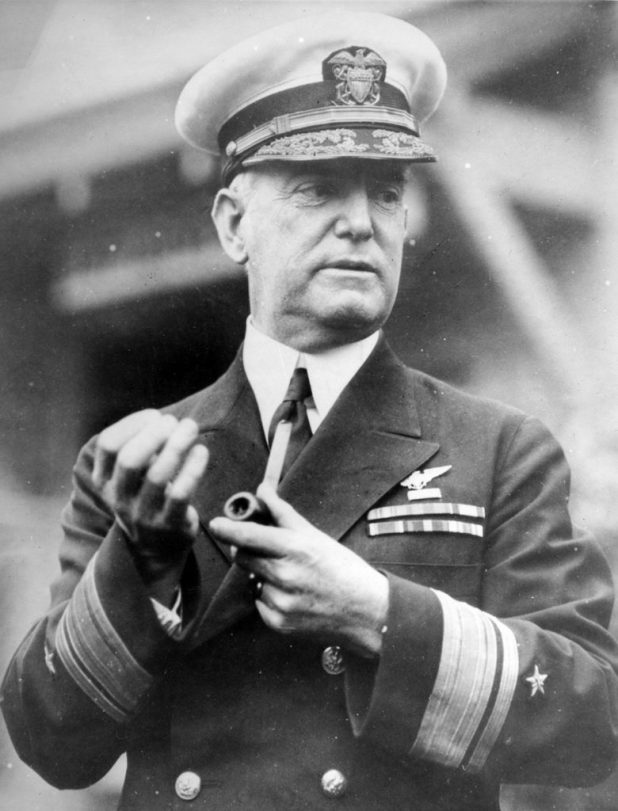 Rear Adm. William A. Moffett a few days before his death. He was lost in USS Akron (ZR 4), April 4, 1933 off Barnegat Light, coast of New Jersey. (U.S. Navy photo/Released)