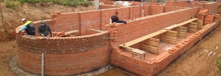 Строительство кирпичного коттеджа по проекту