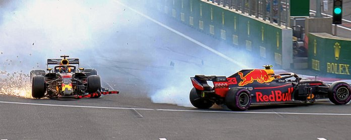 Crash des Red Bull à Baku