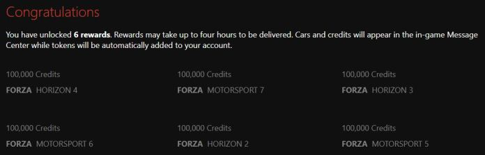 Récompenses Forza Hub
