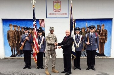 Chapter Supports Local JROTC Battalions