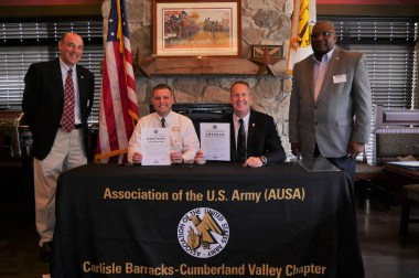 Chapter and Newest Corporate Member Sign ESGR Letters of Support