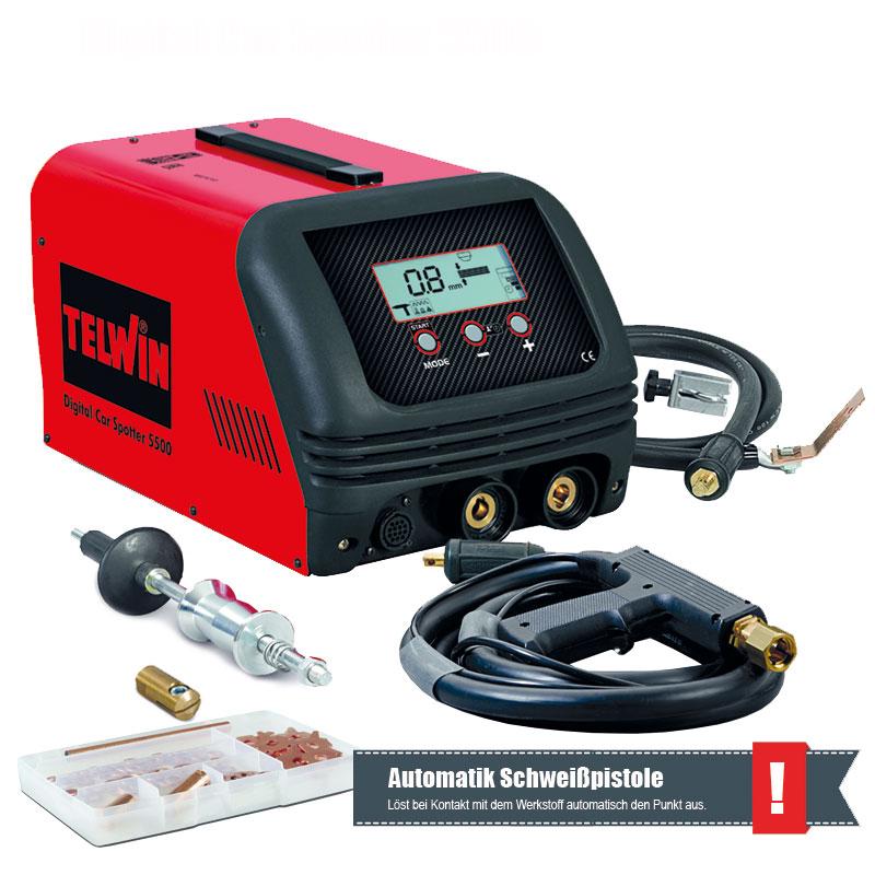 Ausbeulspotter Karosserie Spotter Digital 5500 400V 4200A mit Zubehör Content