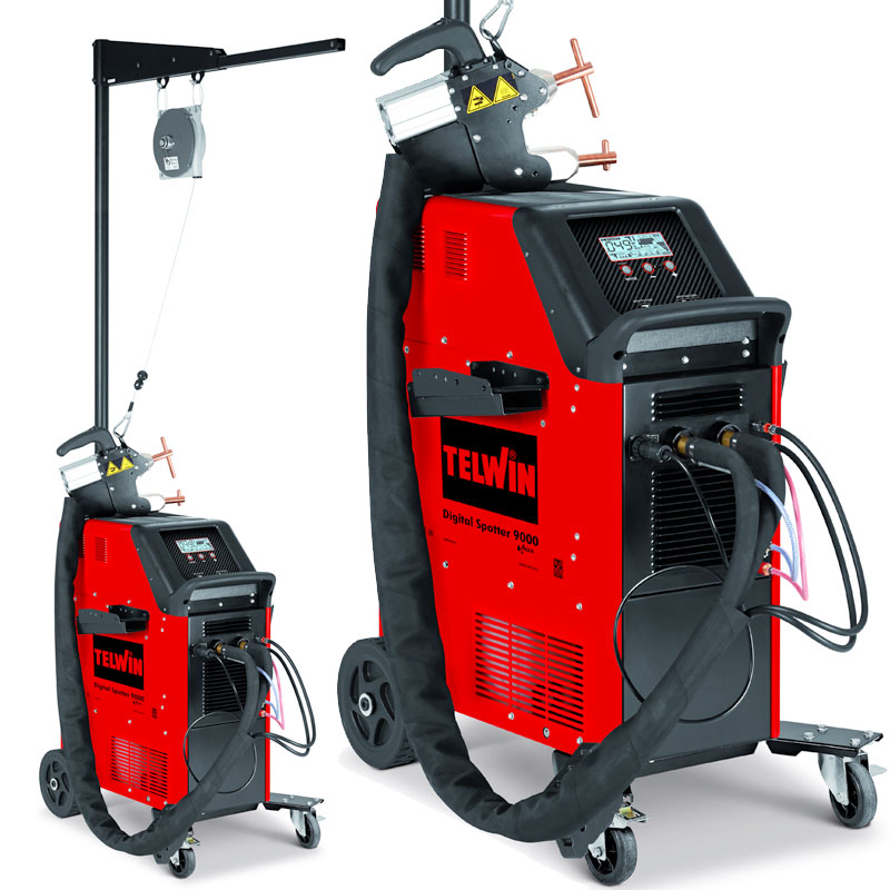 Punktschweißgerät Ausbeulspotter Digital Spotter 9000 400V 7000A mit Balancer Zangenhalter