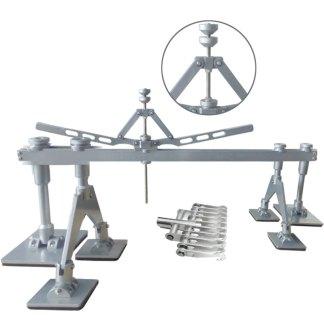 Scheren-Zugbrücke Set Einzelfüße und Doppelfüße inkl. Zugkralle mit 10 Haken