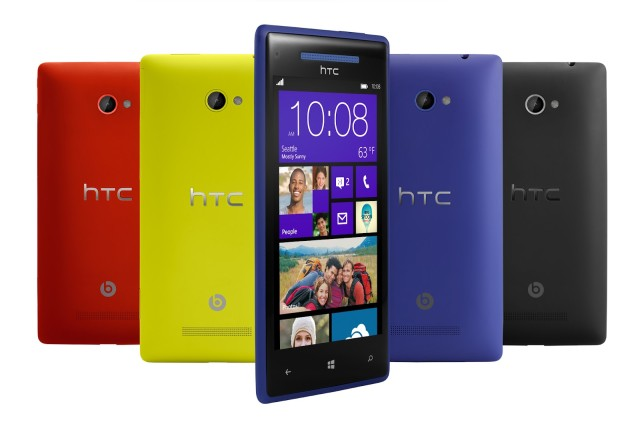 HTC Windows Phone 8X - look at the colours!