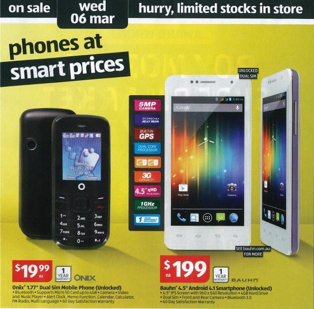 Aldi Mobile Phones